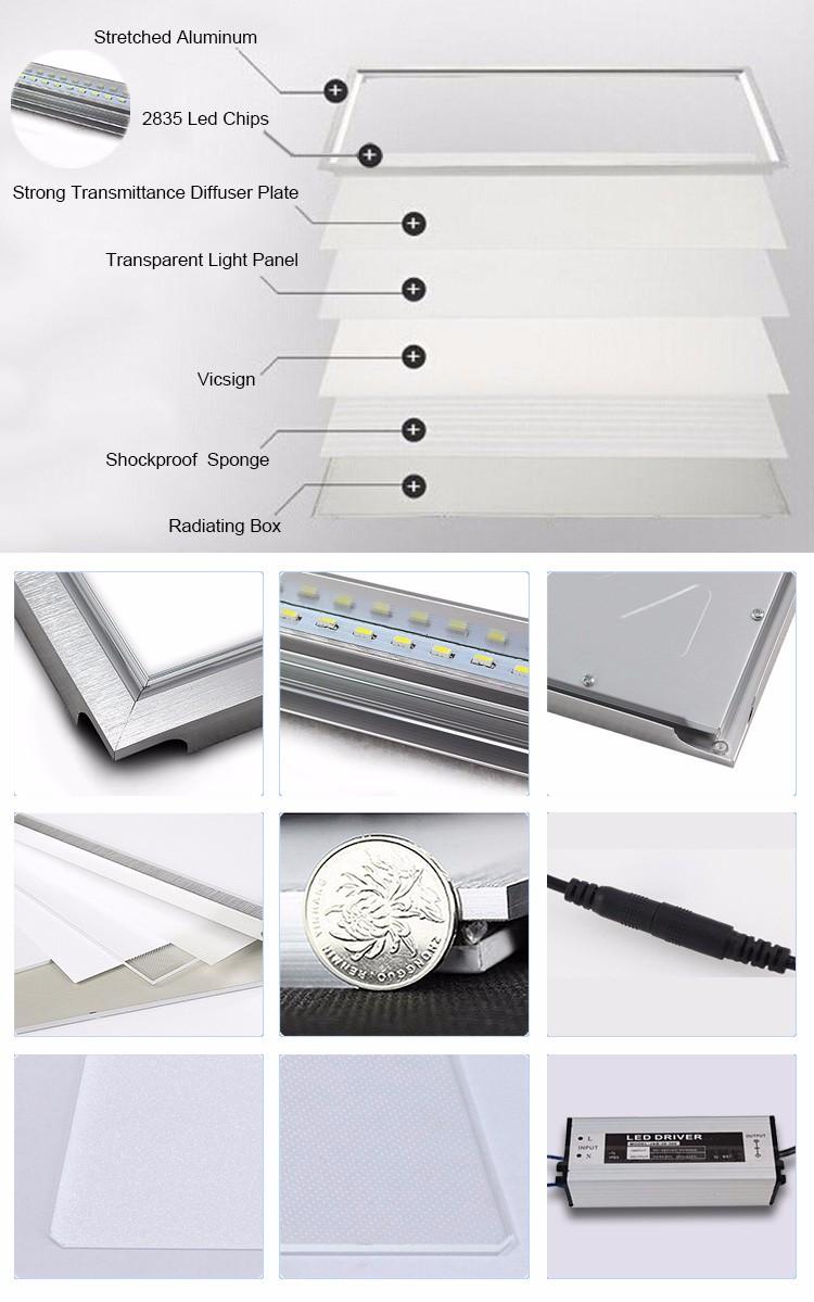 High quality with cheap price led panel light 36w 600x600 ac85 265v - Ac85 265v Ul Aproved 36w 40w 72w Square 600x600 Led Panel Light China Big