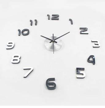 3D Clock Modern Style 2019 New Metal Art Large DIY Wall Clock 3D Living Room Acrylic Mirror Watch