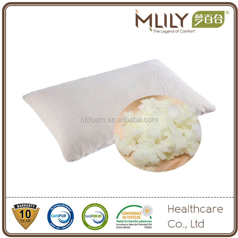 Bamboo shredded memory foam pillow adjustable