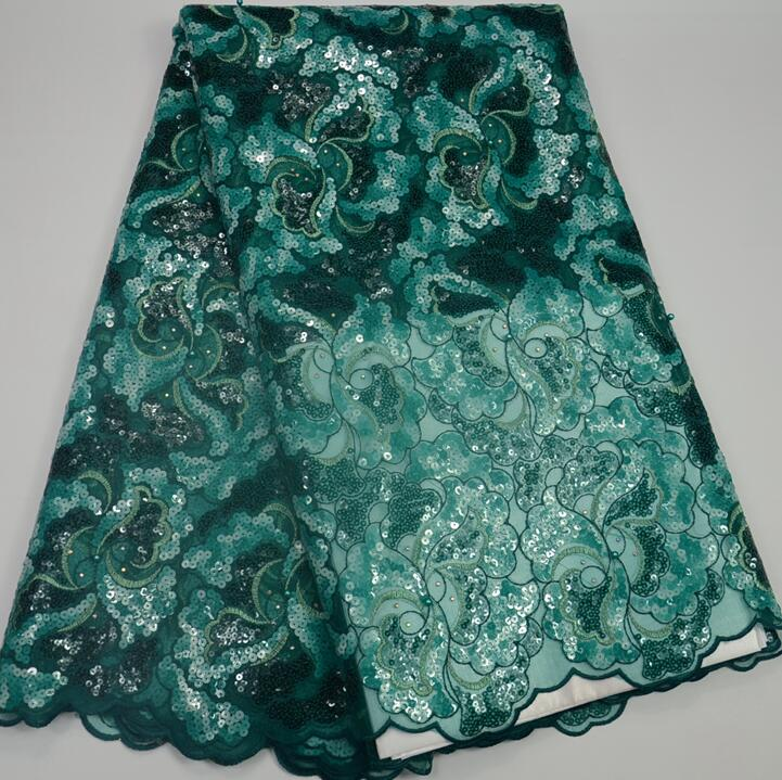AG9036 High quality african organza lace with sequins
