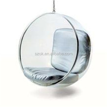 HOT SELL!! top gloss transparent acrylic hanging bubble chair