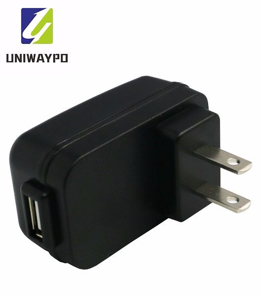 usb power adapter 5V 1A CE FCC UL approved pocket charger for mobile phone