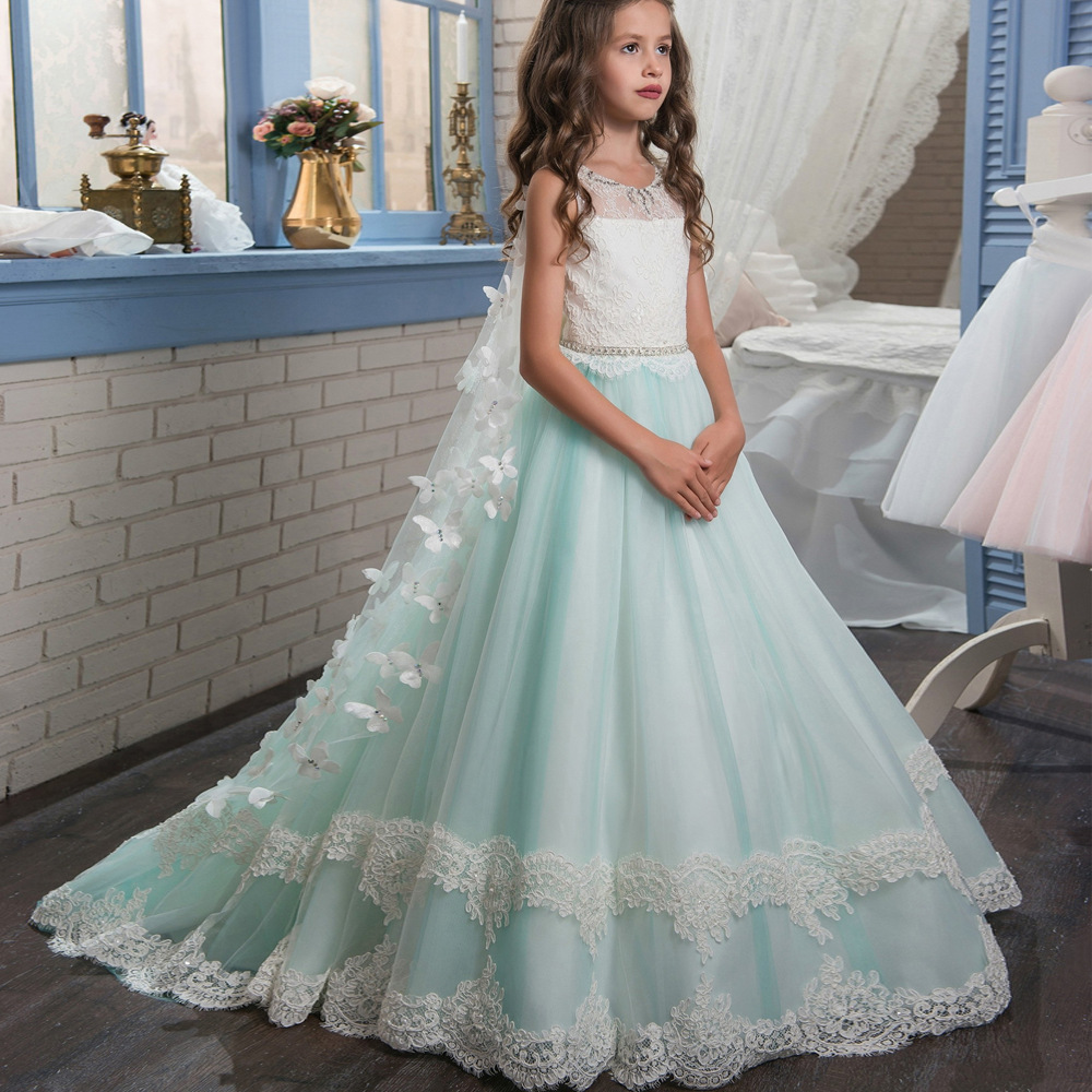 e2db868c30b Flower Girl Dresses White And Turquoise - Gomes Weine AG