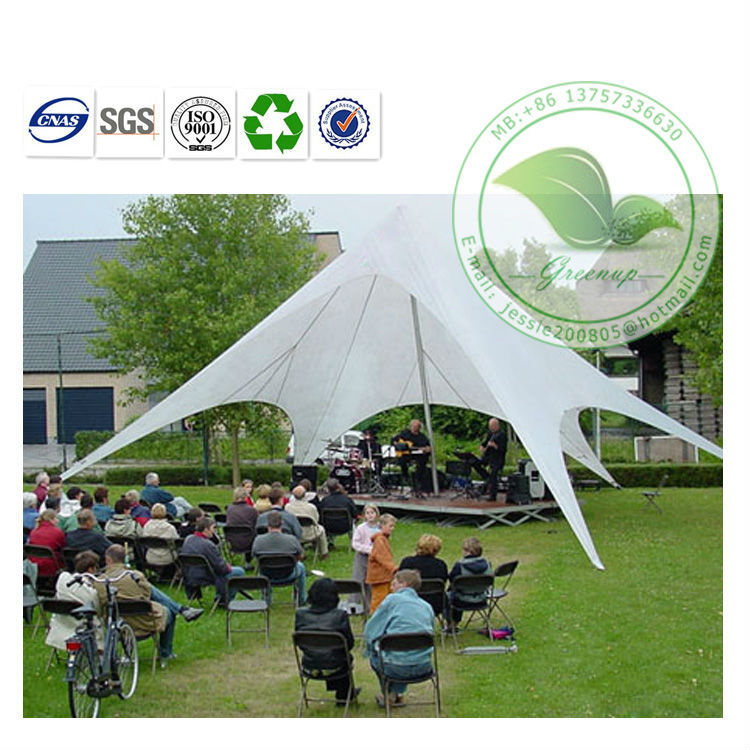 High Quality Cheap UV Protection White Tarpaulin Star Tensile Awning