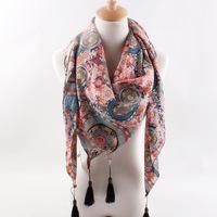 C83443A High Quality Wholesale Scarf Shawl, Beautiful Printed Wool Scarf