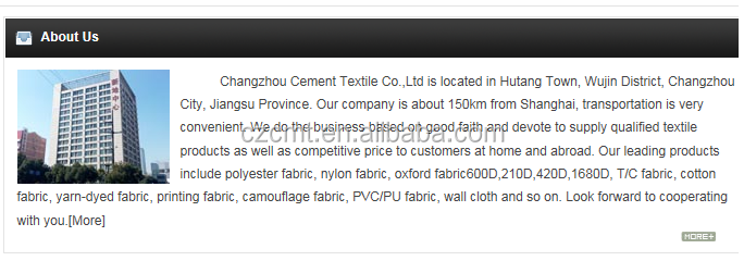 600D printing polyester fabric for cloth