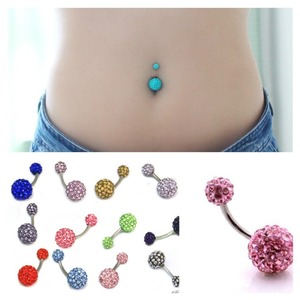 Cheap Fake Belly Button Rings Stainless Steel Belly Piercing