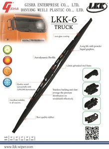Truck Wiper Blade with different Adaptors, LKK-6 Wiper Blades