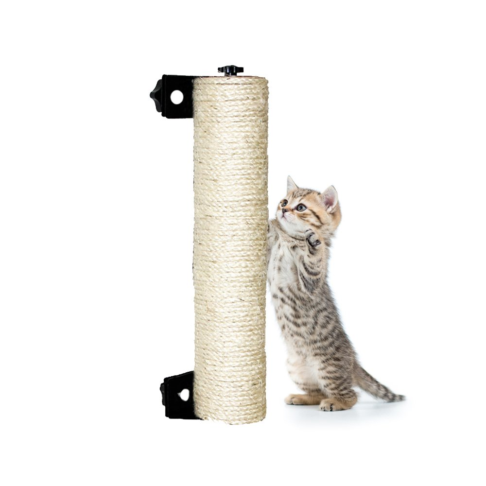Get Quotations Luckstar Cat Scratching Post 13 8 Wall Mounted Sisal For Cage Grinding