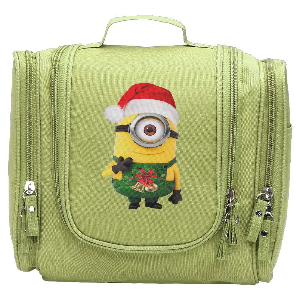 womans merry christmas minions casual cosmetic makeup purse wallet handbag kellygreen - Merry Christmas Minions
