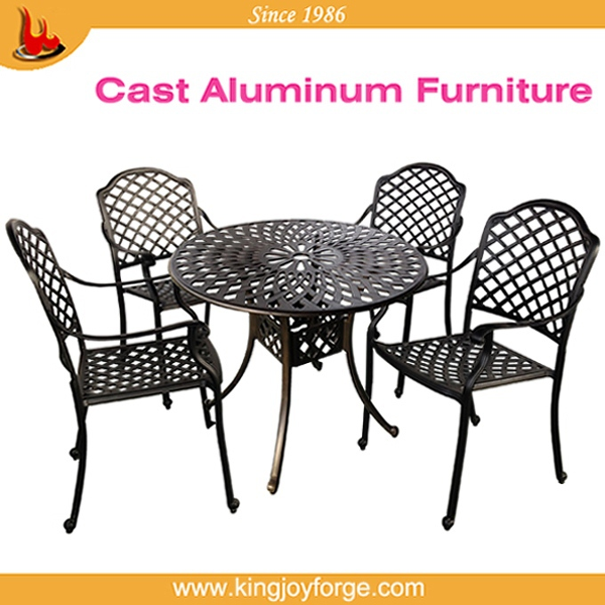 USA hotselling popular aluminium outside dining sets