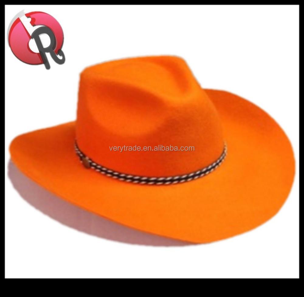 Wool Felt Orange Cowboy Hat 92915e09b33