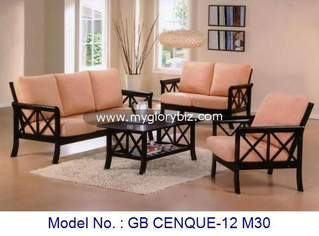 Clic Simple Wooden Sofa Set With Coffee Table Living Room Furniture Modern Design Designs Malaysia