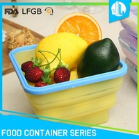 Portable cheap cheap square airtight collapsible microwave food container