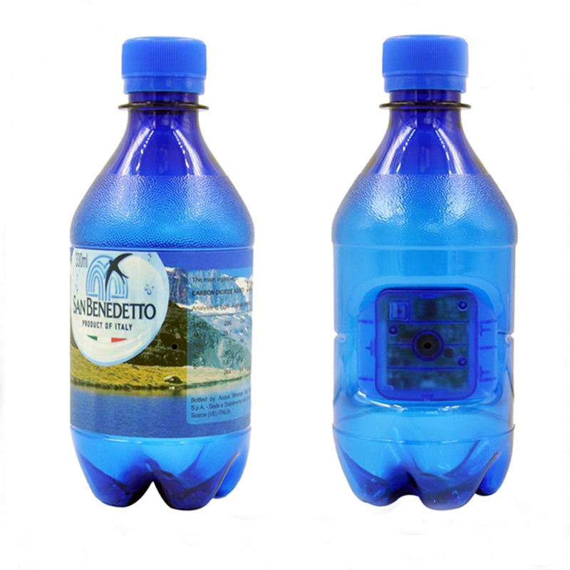 Realistic Looking Reusable Soda Water Bottle Doubles as Hidden Camera for Capturing Covert Footage On-The-Go