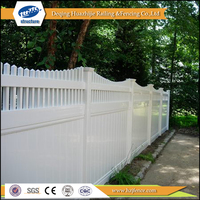 Vinyl used pvc safety privacy fence