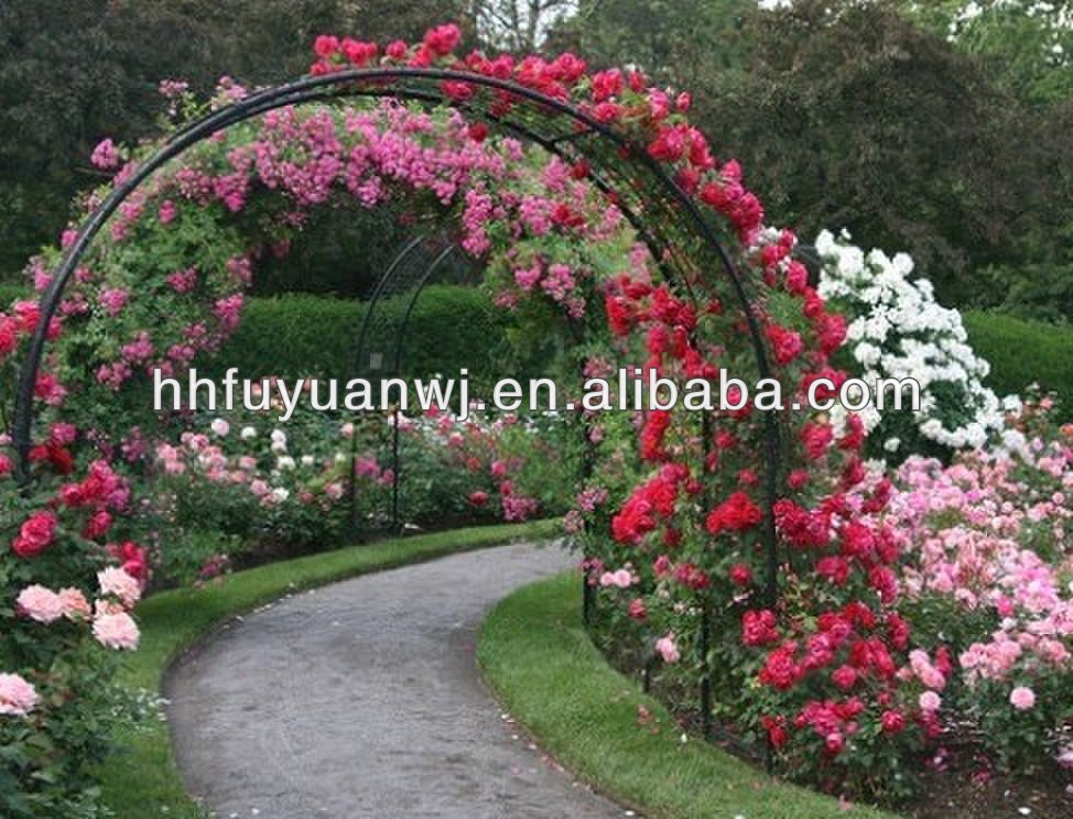 Decorative Wedding Artistic Black Metal Garden Arch