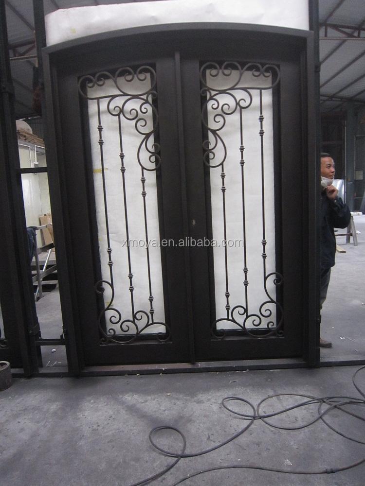 puerta de seguridad de hierro puertas de hierro forjado puerta de entrada de diseo para