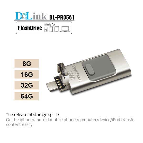 Wholesale Factory Price Real Capacity OTG iFlash Drive, Mobile phone custom OTG Usb <strong>Flash</strong> For iPhone