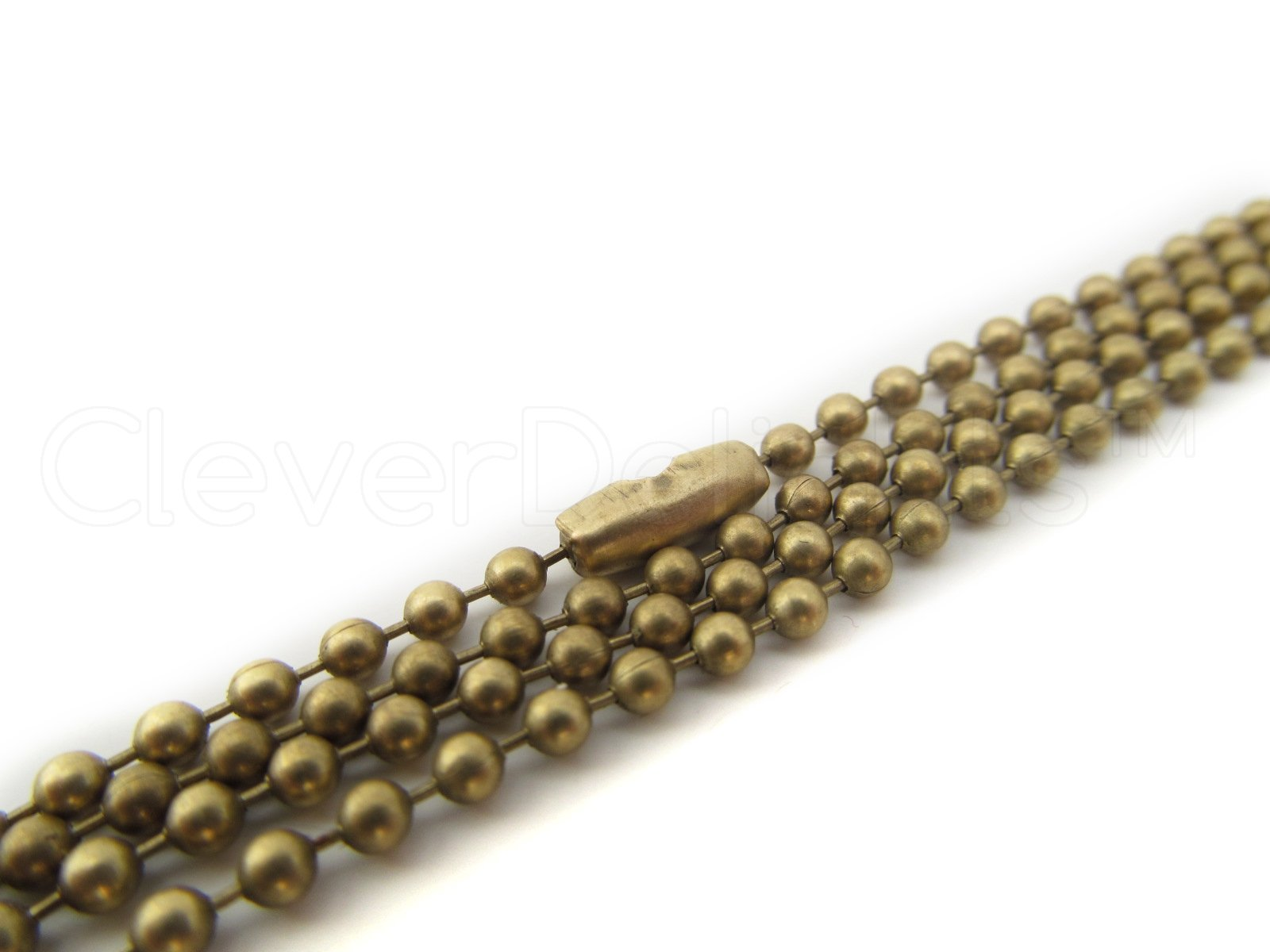 """20 CleverDelights Ball Chain Necklaces - Antique Bronze Color - 24 Inch - Jewelry Findings - 2.4mm Ball - Adjustable Antiqued Necklaces - 24"""" Length"""