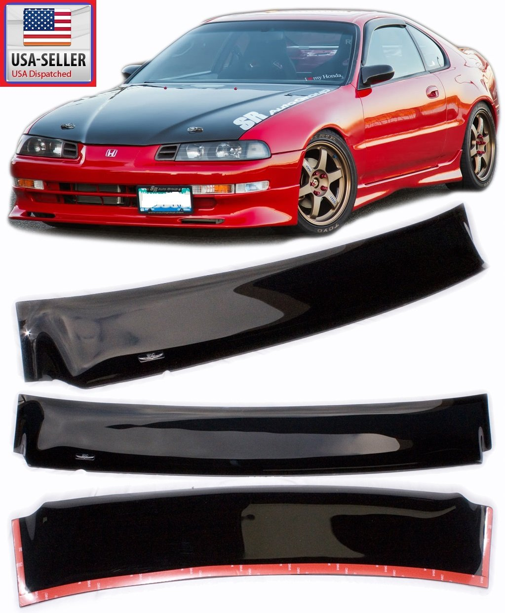 Cheap Honda Prelude Dohc Find Deals On Line At 1992 Vtec Get Quotations 92 96 Hic Smoke Rear Roof Sun Window Visor Spoiler 1993 1994
