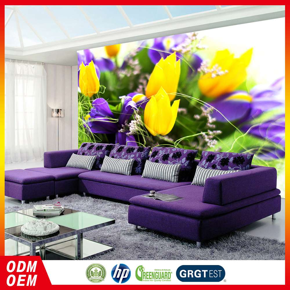 100% Warranty Custom Made Tulip Flower Pattern Interior Wall Flower Painting