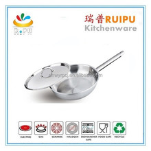 New 2015 kitchenware 18cm stainless steel decorative fry pans with ss handle from zhejiang manufacturer