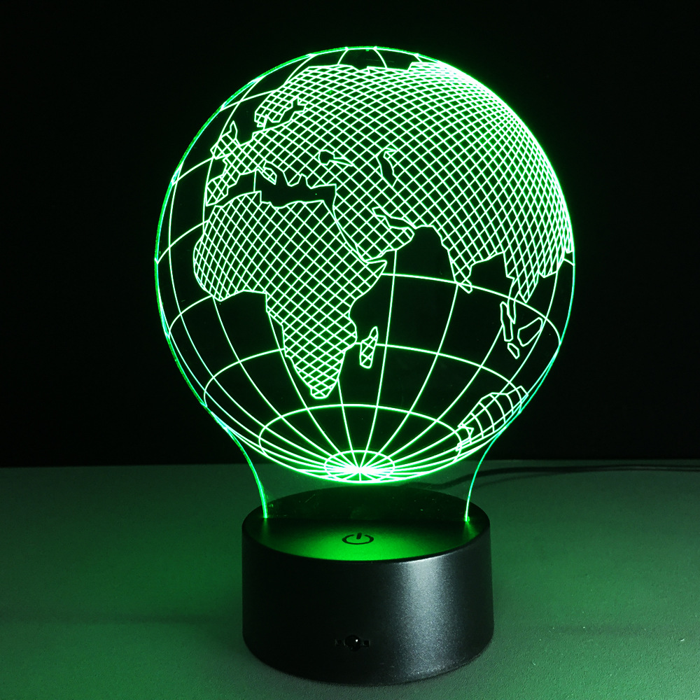 Zogift Europe Map 3d Illusion World Globe Lamp Room 3d Light Buy