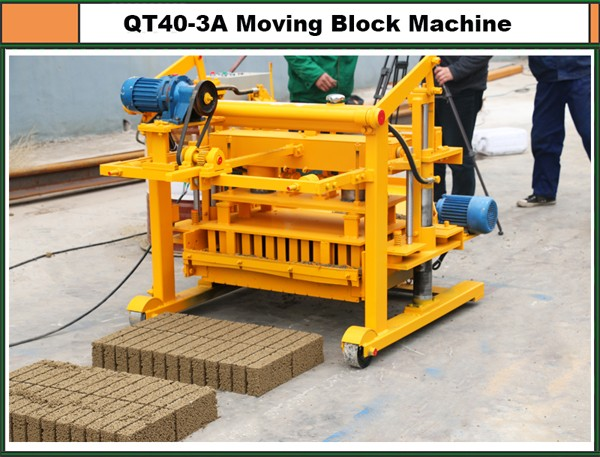 qt40-3 moving block machine block small maching