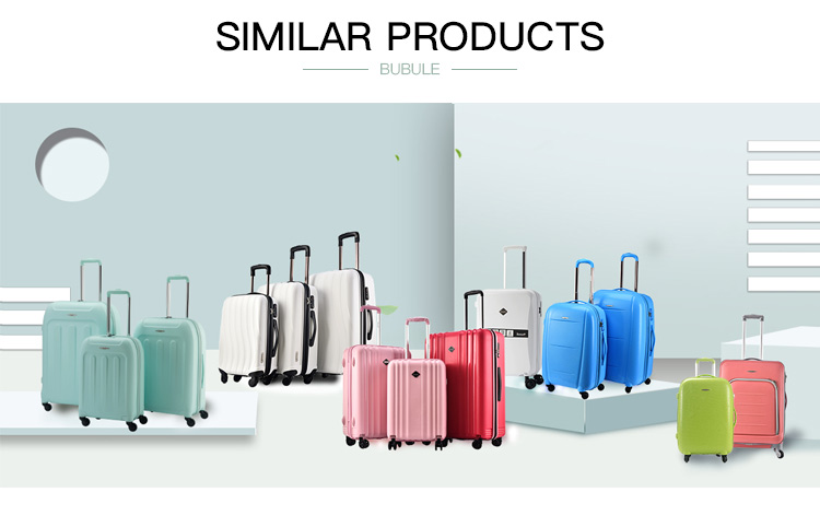 BUBULE PP Material Luggage  Hard Case Suitcase