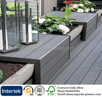 Free Sample Composite Wood Decking Fireproof Outdoor Original Color Plastic