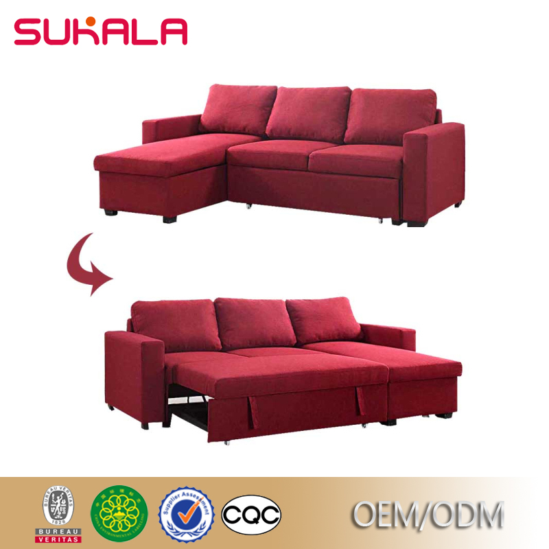 Custom Contemporary Red Fabric Microfiber Sectional Sofas - Buy ...