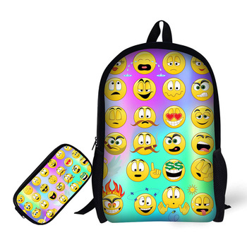 Made In China Back To School Emoji Printed