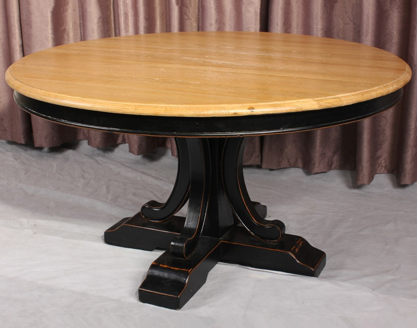Table Ronde Bois Massif Table A Manger Soldes Newbalancesoldes - Table ronde bois massif
