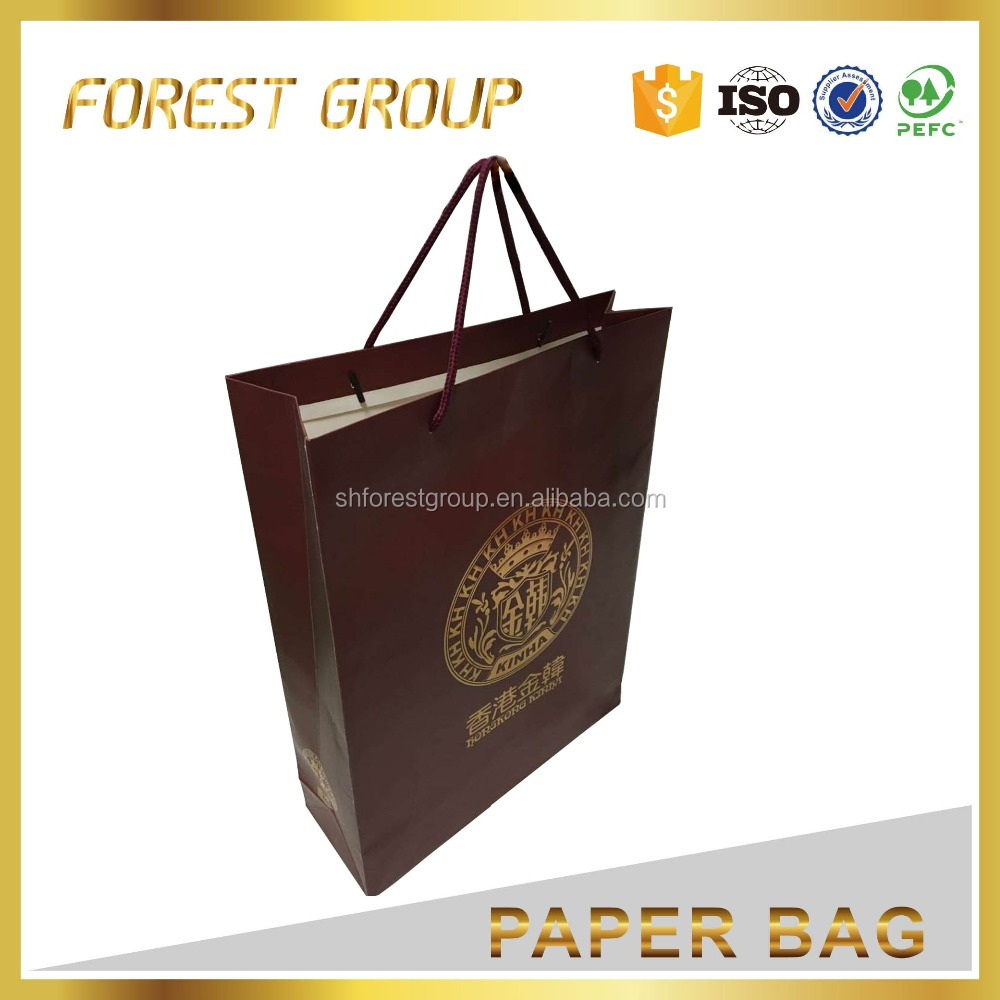 Free shipping retail Jewlry paper carrier bag custom design paper shopping bag