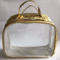 Customized storage bag / plastic zipper pouch / clear cosmetic bag factory offer