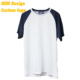 China Factory Good Quality TC Offset Print AU size 160 gram White Blank Boy Raglan T Shirt for Men
