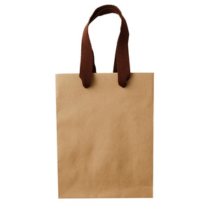 Custom Recycled Take Away Shopping Paper Bag, Kraft Paper Box Set, Carrier Paper Kraft Bag