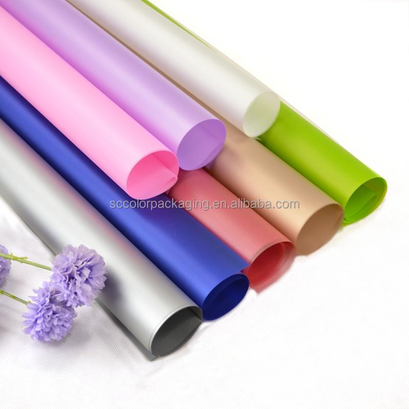 All'ingrosso di Modo Nuovo di Plastica Carta Da Imballaggio Fiore di carta Impermeabile