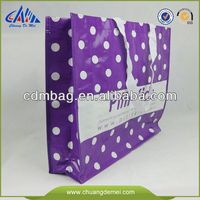 2014 various non woven shopping bags with white and purple design