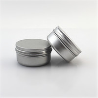 50gr aluminum barbershop shave gel hair wax jar 50ml cream mask jar