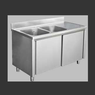 Stainless Steel sink cabinet sliding door, View Stainless Steel ...