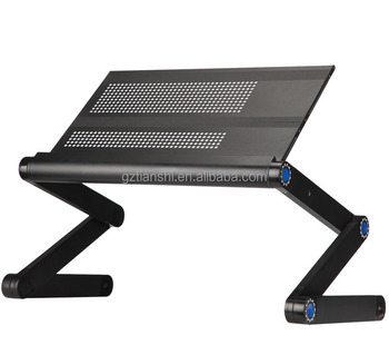 factory price portable laptop tray table laptop desk with cooling