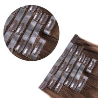 Best hot selling new products seamless pu skin weft clip in hair extension