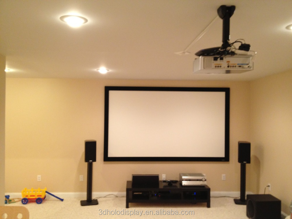 Fixed Frame Projector Screen / Wall Mount Fixed Frame Projection ...