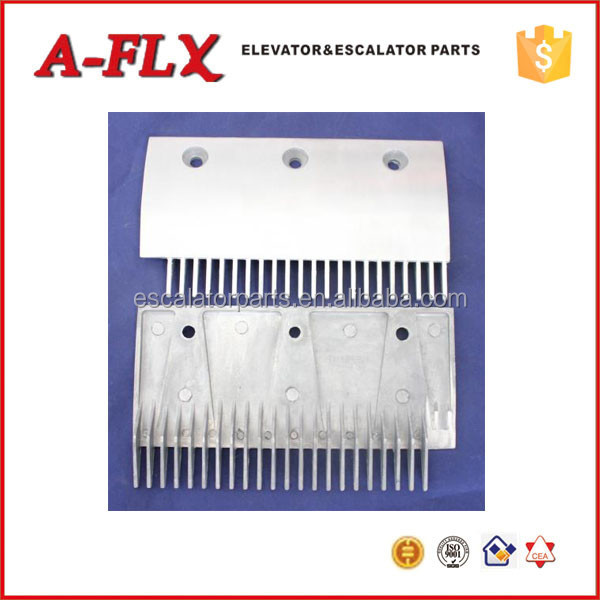 22T Escalator Aluminum Left Comb Plate Use For Thyssen Escalator Step
