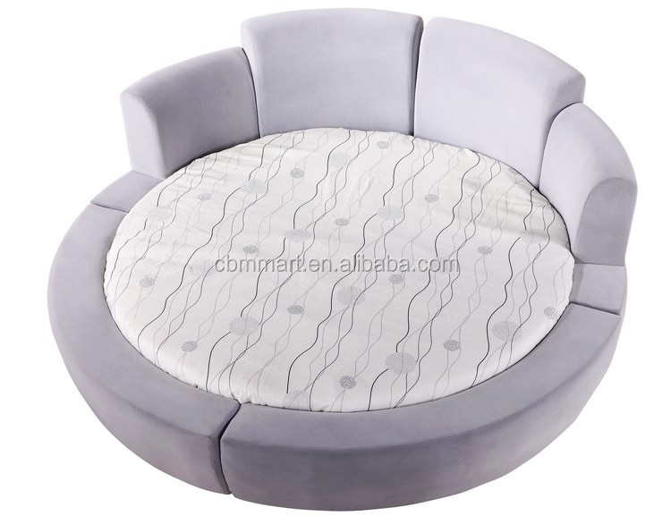 Real Leather Round Bed, Real Leather Round Bed Suppliers And Manufacturers  At Alibaba.com