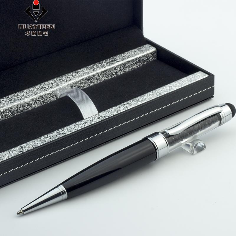 Promocional Caneta Esferográfica com Impressão DO LOGOTIPO de Cristal do Metal USB Pen USB Conjunto
