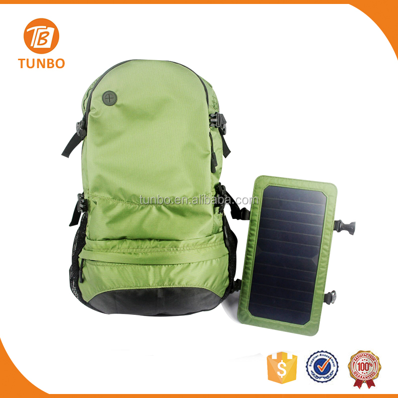 Wholesale New Design 1680D High Quality Outdoor Backpack With Solar Panel