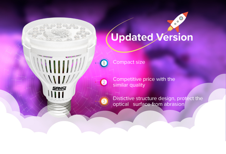 SANSI AC90 - 264v led plant grow light 15W led grow light full spectrum led Grow bulb